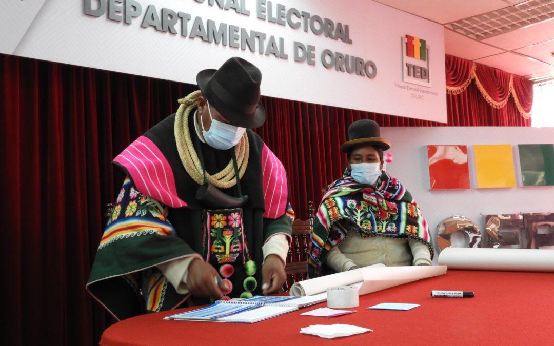TED-Oruro socializó la Ley 1096 a organizaciones políticas indígenas